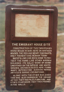 The Emigrant House Site